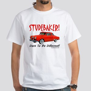 Studebaker-Dare to be Diff White T-Shirt