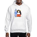 Surfing Macaroni Penguin Hooded Sweatshirt