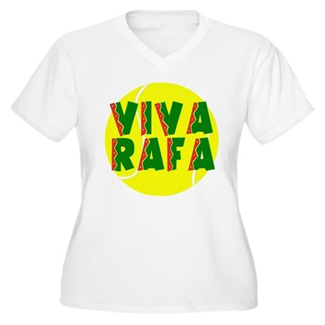 Viva Rafa Women's Plus Size V-Neck T-Shirt