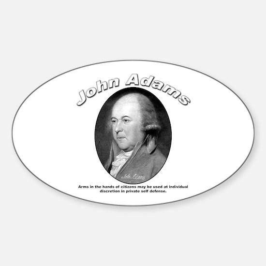 John Adams 05 Oval Decal