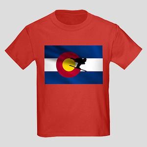 Colorado Skiing Kids Dark T-Shirt