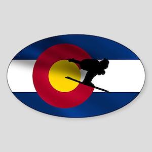 Colorado Skiing Sticker (Oval)