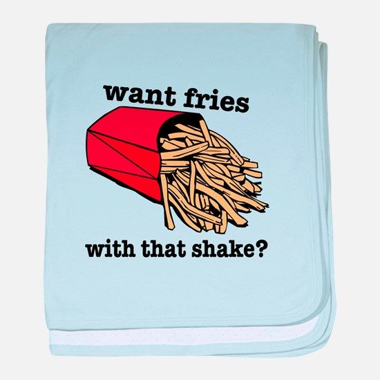 Want Fries? baby blanket
