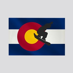 Colorado Snowboarding Rectangle Magnet (10 pack)