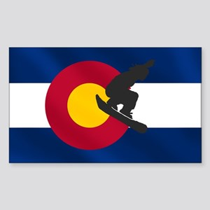 Colorado Snowboarding Sticker (Rectangle)