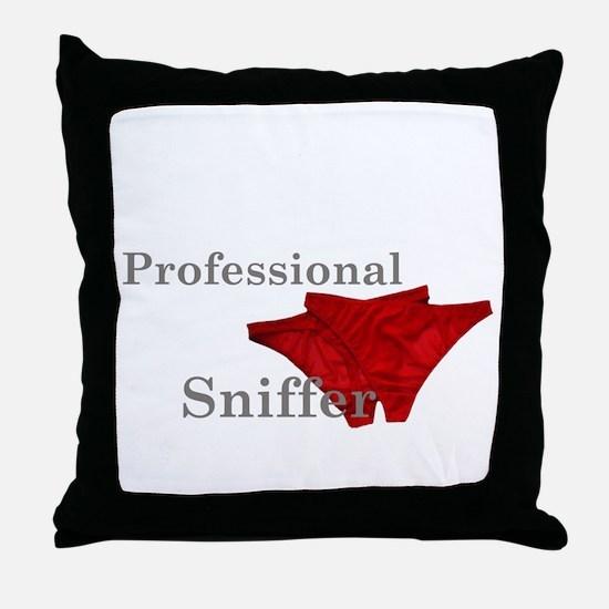 panty sniffer Throw Pillow
