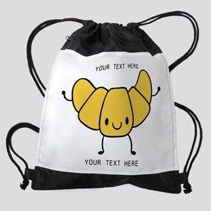 Croissant Gifts Cute Personalized Drawstring Bag