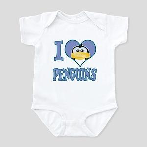 I Love (Heart) Penguins Infant Bodysuit