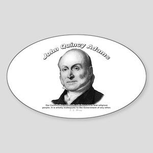 John Quincy Adams 01 Oval Sticker
