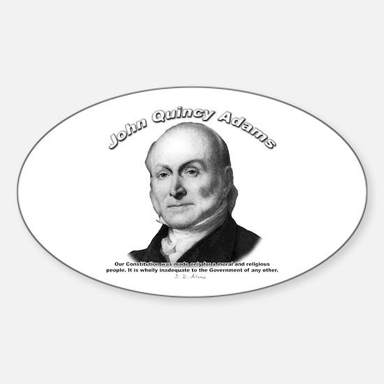 John Quincy Adams 01 Oval Decal