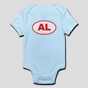 Alabama AL Euro Oval RED Infant Bodysuit