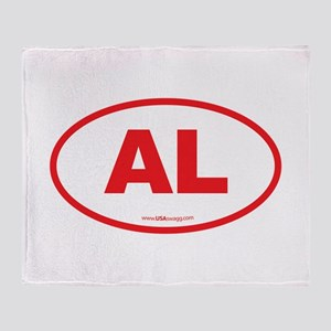 Alabama AL Euro Oval RED Throw Blanket