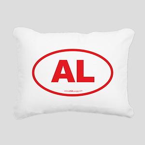 Alabama AL Euro Oval RED Rectangular Canvas Pillow