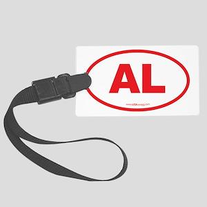 Alabama AL Euro Oval RED Large Luggage Tag