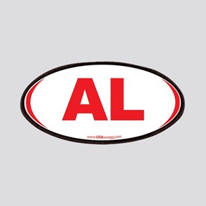 Alabama AL Euro Oval RED Patches