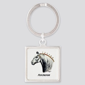 Percheron Square Keychain