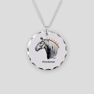 Percheron Necklace Circle Charm