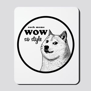 Wow SO Style, such Meme Mousepad