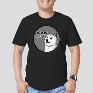 Wow SO Style, such Mem Men's Fitted T-Shirt (dark)