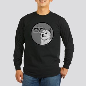 Wow SO Style, such Meme Long Sleeve Dark T-Shirt