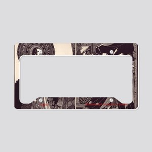 Poe Illustrations License Plate Holder