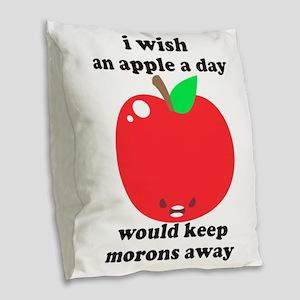 Crude Burlap Throw Pillow