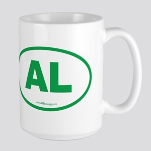 Alabama AL Euro Oval GREEN Large Mug