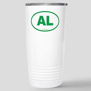 Alabama AL Euro Oval GR Stainless Steel Travel Mug