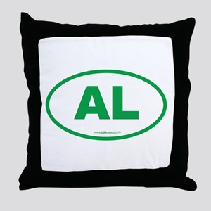 Alabama AL Euro Oval GREEN Throw Pillow