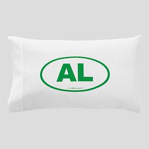 Alabama AL Euro Oval GREEN Pillow Case