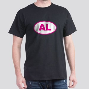 Alabama AL Euro Oval PINK Dark T-Shirt