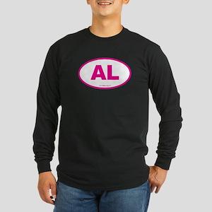 Alabama AL Euro Oval PINK Long Sleeve Dark T-Shirt