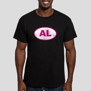 Alabama AL Euro Oval P Men's Fitted T-Shirt (dark)