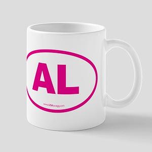 Alabama AL Euro Oval PINK Mug