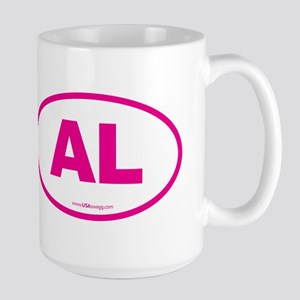 Alabama AL Euro Oval PINK Large Mug