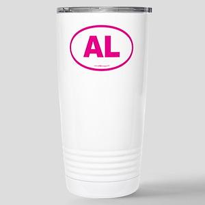 Alabama AL Euro Oval PI Stainless Steel Travel Mug
