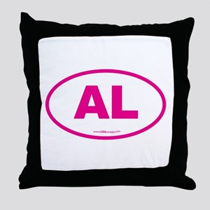 Alabama AL Euro Oval PINK Throw Pillow
