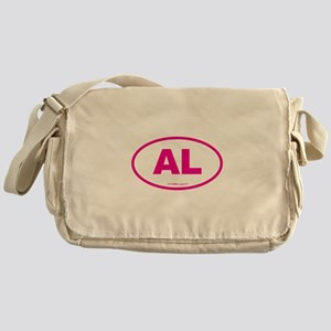 Alabama AL Euro Oval PINK Messenger Bag