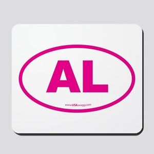 Alabama AL Euro Oval PINK Mousepad