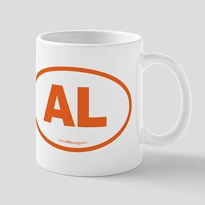 Alabama AL Euro Oval ORANGE Mug