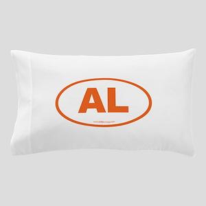 Alabama AL Euro Oval ORANGE Pillow Case