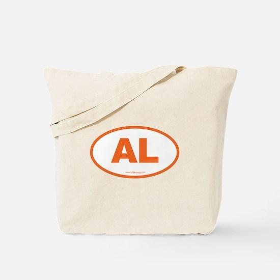Alabama AL Euro Oval ORANGE Tote Bag