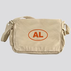 Alabama AL Euro Oval ORANGE Messenger Bag