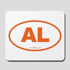 Alabama AL Euro Oval ORANGE Mousepad