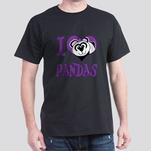 I Love (Heart) Pandas Dark T-Shirt