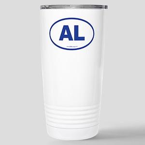Alabama AL Euro Oval BL Stainless Steel Travel Mug