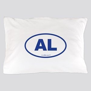 Alabama AL Euro Oval BLUE Pillow Case