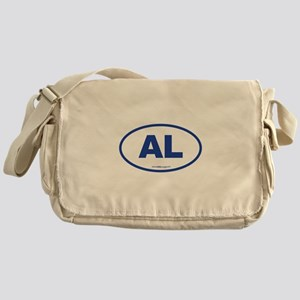 Alabama AL Euro Oval BLUE Messenger Bag