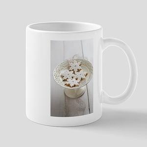 White Christmas cookies Mugs
