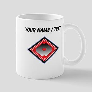 Custom Red Baseball Diamond Mugs